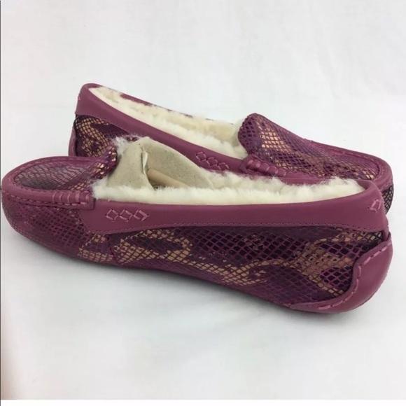 f514f5829e1 UGG Ansley Exotic Velvet Sheepskin Slippers NEW